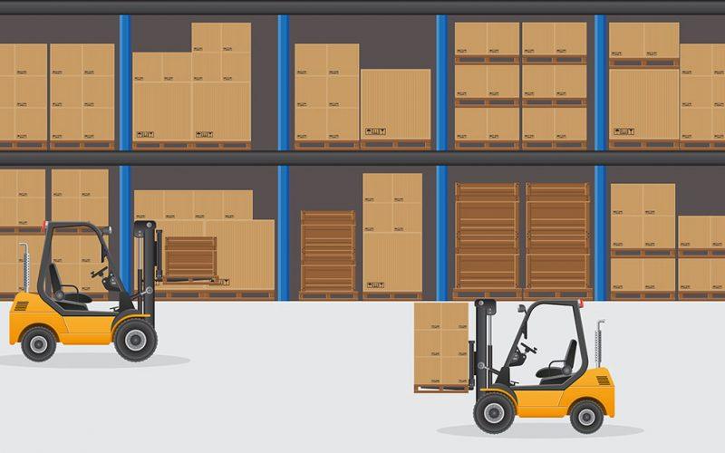 Warehouse vector illustration isolated on white background.